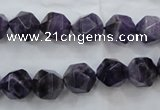CNG929 15 inches 10mm faceted nuggets amethyst gemstone beads