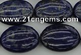 CNL1122 15.5 inches 18*25mm oval lapis lazuli gemstone beads