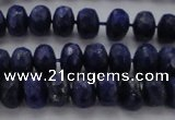 CNL1402 15.5 inches 4*6mm faceted rondelle lapis lazuli beads