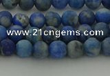CNL1651 15.5 inches 6mm round matte lapis lazuli beads wholesale