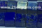 CNL1675 15.5 inches 9*9mm cube lapis lazuli gemstone beads