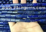 CNL1681 15.5 inches 10*13mm - 10*15mm flat tube lapis lazuli beads
