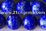 CNL1709 15.5 inches 8mm faceted round lapis lazuli beads