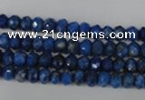 CNL426 15.5 inches 4*6mm faceted rondelle natural lapis lazuli gemstone bea