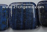 CNL685 15.5 inches 40*40mm square natural lapis lazuli beads