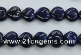CNL931 15.5 inches 10*10mm heart natural lapis lazuli gemstone beads