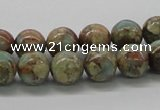 CNS02 16 inches 10mm round natural serpentine jasper beads wholesale