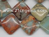 CNS121 15.5 inches 18*18mm diamond natural serpentine jasper beads