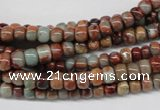CNS128 15.5 inches 4*6mm rondelle natural serpentine jasper beads