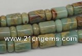 CNS136 5*8mm rondelle & 8*12mm tube natural serpentine jasper beads