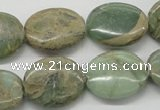CNS14 16 inches 15*20mm oval natural serpentine jasper beads