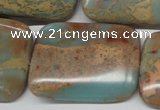 CNS152 15.5 inches 30*40mm rectangle natural serpentine jasper beads