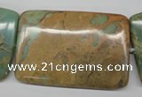 CNS153 15.5 inches 40*60mm rectangle natural serpentine jasper beads