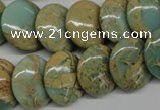 CNS175 15.5 inches 18mm flat round natural serpentine jasper beads