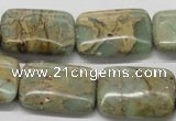 CNS20 16 inches 18*25mm rectangle natural serpentine jasper beads