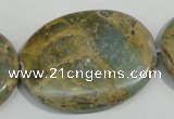 CNS245 15.5 inches 30*40mm oval natural serpentine jasper beads