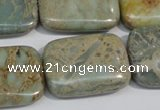 CNS257 15.5 inches 22*30mm rectangle natural serpentine jasper beads