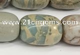 CNS313 15.5 inches 13*18mm drum serpentine jasper beads