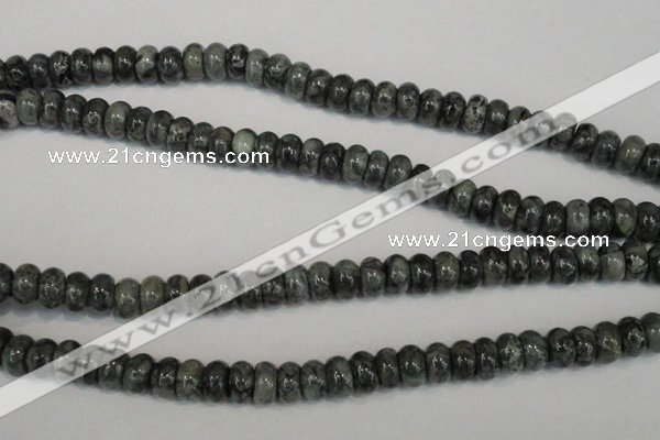 CNS412 15.5 inches 5*8mm rondelle natural serpentine jasper beads