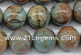 CNS67 15.5 inches 18mm round natural serpentine jasper beads