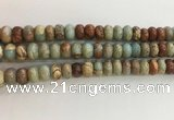CNS715 15.5 inches 6*10mm rondelle serpentine jasper beads wholesale