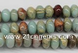 CNS73 15.5 inches 6*10mm rondelle natural serpentine jasper beads