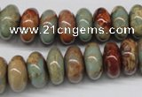 CNS75 15.5 inches 7*14mm rondelle natural serpentine jasper beads