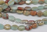 CNS89 15.5 inches 6*8mm oval natural serpentine jasper beads