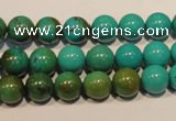 CNT105 15.5 inches 9mm round natural turquoise beads wholesale