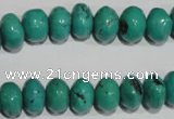 CNT225 15.5 inches 8*12mm rondelle natural turquoise beads wholesale