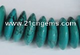 CNT29 16 inches 8*25mm rondelle natural turquoise beads wholesale