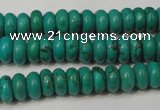 CNT363 15.5 inches 4*8mm rondelle turquoise beads wholesale