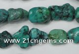 CNT381 15.5 inches 10*14mm - 12*16mm nuggets natural turquoise beads
