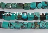 CNT401 15.5 inches 4*4mm cube turquoise beads wholesale