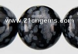 COB24 15 inches 10mm round snowflake obsidian gemstone beads wholesale