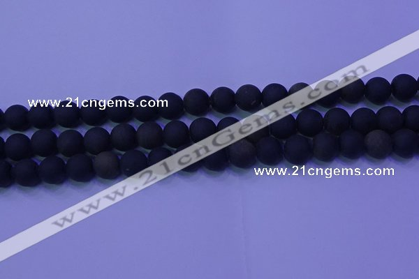 COB279 15.5 inches 8mm round matte golden obsidian beads wholesale