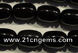 COB463 15.5 inches 12*16mm drum black obsidian beads wholesale