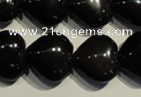 COB470 15.5 inches 16*16mm heart black obsidian beads wholesale