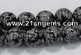 COB53 15.5 inches 12mm round Chinese snowflake obsidian beads