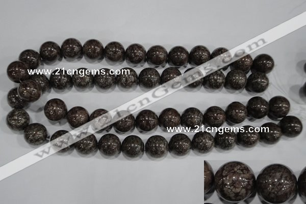 COB555 15.5 inches 14mm round red snowflake obsidian beads wholesale