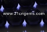 COB715 15.5 inches 14mm round ice black obsidian beads wholesale