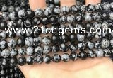 COB760 15.5 inches 8mm round snowflake obsidian beads wholesale