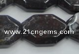 COJ07 15.5 inches 22*30mm octagonal blood jasper gemstone beads