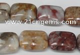 COJ224 15.5 inches 15*20mm rectangle blood stone beads wholesale