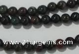 COJ301 15.5 inches 6mm round Indian bloodstone beads wholesale