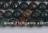 COJ311 15.5 inches 6mm faceted round Indian bloodstone beads