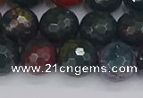 COJ313 15.5 inches 10mm faceted round Indian bloodstone beads