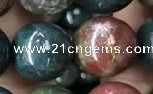 COJ334 15.5 inches 12mm round Indian bloodstone beads wholesale
