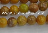 COJ601 15.5 inches 6mm round orpiment jasper beads wholesale