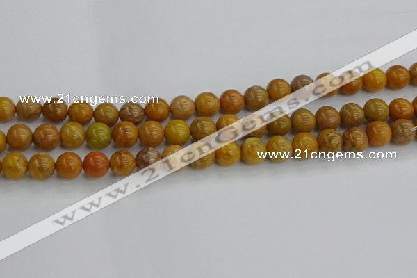 COJ602 15.5 inches 8mm round orpiment jasper beads wholesale